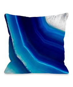 Take a look at this Blue Geode Throw Pillow today!