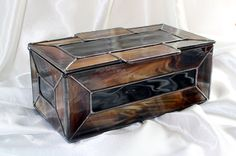 Stained Glass Men's Valet Box by RomanickStainedGlass on Etsy