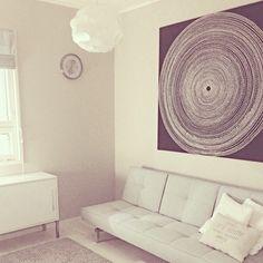 Marimekko #fokus fabric can be stretched over wall hanging bars and displayed as wall art! Available at http://kiitosmarimekko.com/products/fabric-wall-hanging-frames