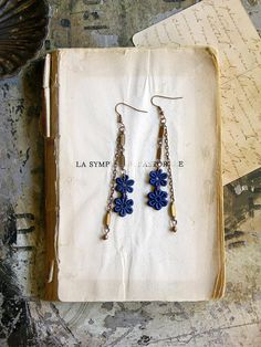 lace earrings JOETTA by whiteowl on Etsy, $25.00