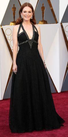 Julianne Moore in a black gown