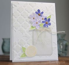 Gorgeous card by Nichol Magouirk using the June 2014 card kit by Simon Says Stamp.