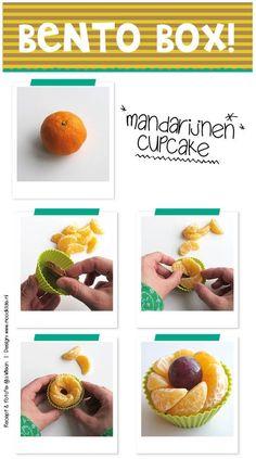 bento zonder rijst, eenvoudige bento tips voor een leuke lunch, zo maak je een mandarijnen cupcake