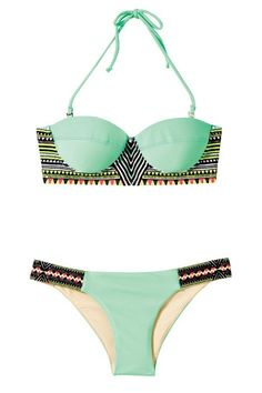 Mint and tribal bathing suit
