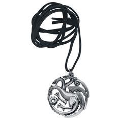 """Collana con pendente """"Targaryen"""" di #GameOfThrones"""