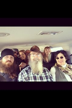 Duck Dynasty... Jase, Willie, Korie, Si, Missy and Miss Kay :-)