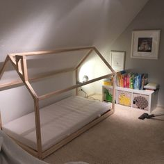 Toddler bed Play house bed frame Children bed Bunk bed Home bed Wood house Floor bed Teepee bed Wooden bed Wood house Montessori bed Gift - Camas -