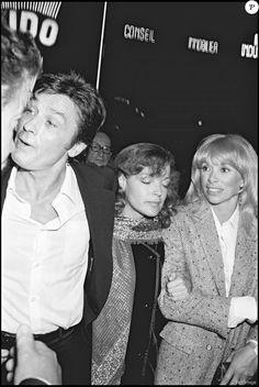 Alain Delon, Romy Schneider et Mireille Darc - Avant-première du film Dans la peau d'un flic en 1981