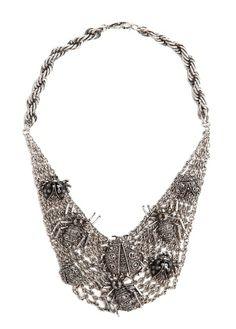MANGO | Rhinestone insect necklace