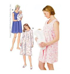 Maternity Nursing Gowns Sewing Pattern