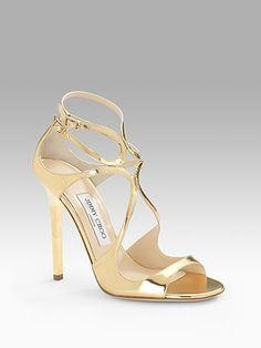 Jimmy Choo gold gorgeous heels