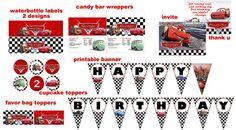 Disney Cars 2 Birthday Party Package Digital by digitalparties, $20.00