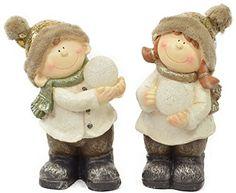 weihnachtskinder con LED BOLA LUMINOSA - Niño Niña - 38cm-Figura Niños Invierno Navidad Navidad Figura Magnesia - Junge
