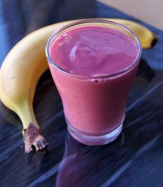 Bananas for Raspberry Smoothie