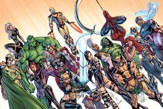 The Marvel Universe // artwork by J. Scott Campbell, Vitali Iakovlev and Jeremiah Skipper (2015)