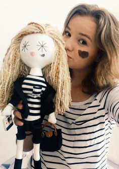 Gorgeous Zuzia with her personalized Laloushka doll Dolls, Sweet, How To Make, Handmade, Baby Dolls, Candy, Puppet, Craft, Doll