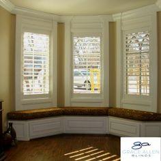Custom Bay Window Seat with Kirtz Shutters, Grace Allen Blinds- Oklahoma City OK