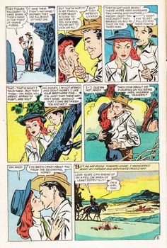 Comic Book Cover For Western Love Trails 09 (1950)