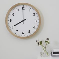 Our gorgeous new clock is the perfect addition to your kitchen or office. Made from dovetailed oak, a simple clean white face is complemented by black numbers and hands. Decorative Accessories, Home Accessories, The White Company, Tea Light Holder, Tea Lights, Lanterns, Family Room, Clock, Table Decorations