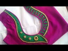 how to make मटका गला blouse back neck design with मोती cut… Patch Work Blouse Designs, Simple Blouse Designs, Stylish Blouse Design, Blouse Back Neck Designs, Fancy Blouse Designs, Dress Designs, Blouse Designs Catalogue, Designer Blouse Patterns, Saree Blouse
