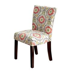 HOMES: Inside + Out IDF-3507R-SC Lipa Side Chair Contemporary (Set of 2), Red