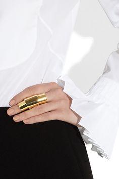 Maison Martin Margiela   Hinged gold-tone ring