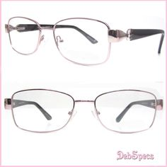 98844063350 Metal frame optical reading glasses with a touch of bling