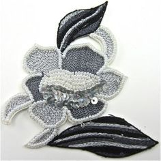 """Leaf Single Two Tone Silver with Silver Beads and Beads 4"""" x 3.5"""""""