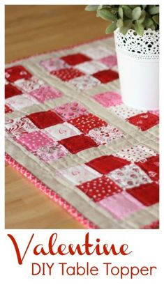 Valentine table topper tutorial