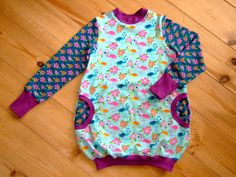 """Ballonkleid """"Flamingos"""" Wunschgröße Lillestoff von ♥♥♥♥♥  strick-huhn-design  ♥♥♥♥♥ auf DaWanda.com"""