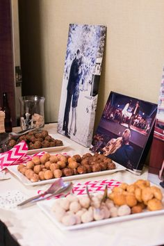 Pink and sassy- Kate Spade inspired wedding at the Hyatt Regency Greenville by B & R Events Donuts to-go with pink chevron bags