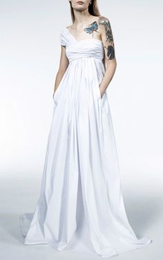 Worship One-Shoulder Gown by MATICEVSKI Now Available on Moda Operandi