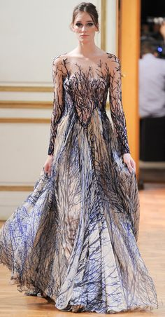Zuhair Murad - Haute Couture - Fall 2013  I want to be covered in trees!