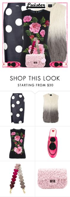 """""""Style's Tip: How to wear a Floral Top?"""" by marymary91 ❤ liked on Polyvore featuring L.K.Bennett, Unreal Fur, Dolce&Gabbana, Gucci and Anya Hindmarch"""