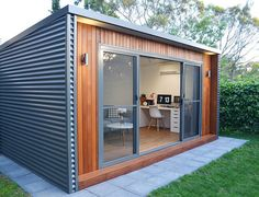 Ideas 03 backyard studio, container shop, shopping, yard sheds, outdoor str Shed Office, Backyard Office, Outdoor Office, Backyard Studio, Backyard Sheds, Garden Office, Outdoor Rooms, Office Storage, Sunroom Office