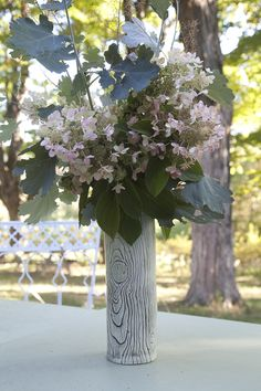 Faux Bois vase fall