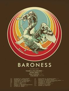 Baroness, Tombs, Pallbearer, Inter Arma, True Widow, Coliseum