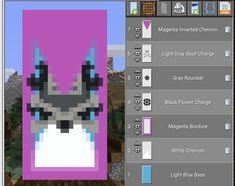 Minecraft Banner Patterns, Cool Minecraft Banners, Minecraft Funny, Amazing Minecraft, Minecraft Crafting Recipes, Minecraft Crafts, Minecraft Designs, Minecraft Architecture, Minecraft Buildings