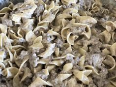 Fast and Easy Ground Beef Stroganoff is comfort food meant for kids! This dish has a creamy sauce with ground beef paired with the tender noodles. Easy Steak Recipes, Easy Dinner Recipes, Cooking Recipes, Healthy Recipes, Dinner Ideas, Healthy Food, Skillet Recipes, Cooking Ideas, Food Ideas