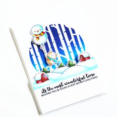 Stamps: Balloon Bunch Christmas, Prancing Plushies, Simply Said Christmas / Stencils: Branch Out Very Merry Christmas, Christmas Ideas, Christmas Balloons, Christmas Stencils, Clear Stamps, Plushies, Wonderful Time, Elf, Snowman