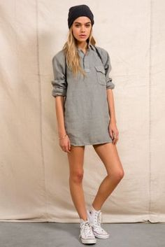 Urban Renewal Linen Camp Shirt/UO