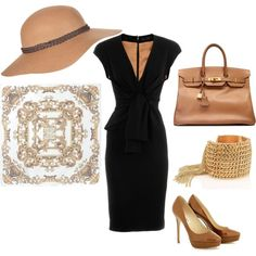 Camel and Black, created by chicaclassystyle.polyvore.com
