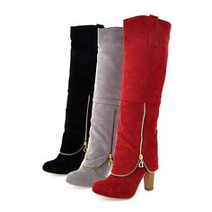 Women's Shoes Fashion Boots Chunky Heel Knee High Boots More Colors available 342699 2017 – €23.45