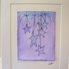 "Watercolor Card Original ""Twilight "" Handpainted  With Envelope betrueoriginals"