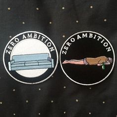 Zero Ambition Patches from @strikegentlyco. Restocked and Available now for a…