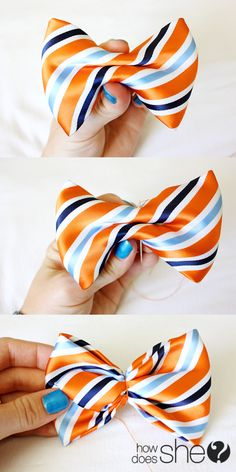 Sewing Clothes For Men how to make a bow tie out of a neck tie . MU son loves wearing these. Ill have to make a few for him. :-) - How to make a bow tie from a men's necktie. Diy Projects For Men, Diy For Men, Make A Bow Tie, How To Make Bows, Sewing Hacks, Sewing Crafts, Sewing Projects, Diy Crafts, Bow Tie Tutorial