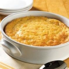 The BEST cornbread casserole...1 box Jiffy corn bread, 1 can kernel corn  1 can cream corn (both drained), 8 oz sour cream, 2 eggs  1 stick butter. mix melted butter with eggs and sour cream, add corn and then mix in corn bread mix. bake in greased pan at 450 for 40 minutes -- made this tonight. We loved it!