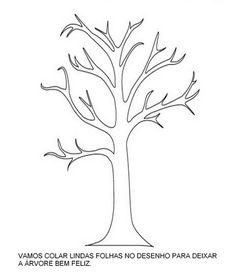 Acesse mais em: Desenhos Dia da Árvore para Colorir