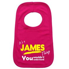 123t USA Baby It's A James Thing You Wouldn't Understand Funny Baby Bib