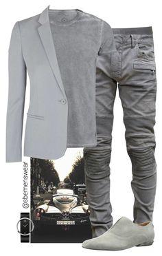 """Mr. Grey"" by efiaeemnxo ❤ liked on Polyvore featuring Calvin Klein Underwear, Balmain, Calvin Klein, Calvin Klein Collection and Topshop"
